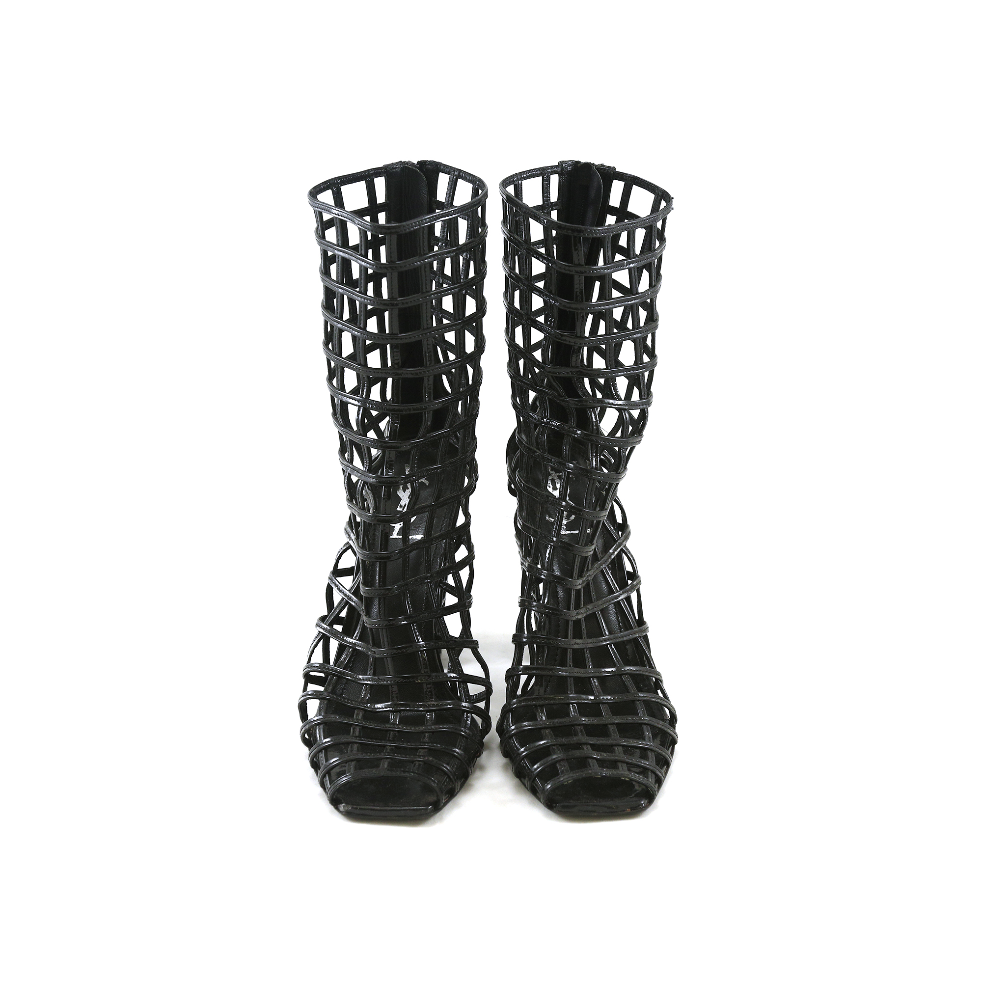 74c3097c0d9 Authentic Second Hand Yves Saint Laurent Cage Boots (PSS-028-00007) - THE  FIFTH COLLECTION