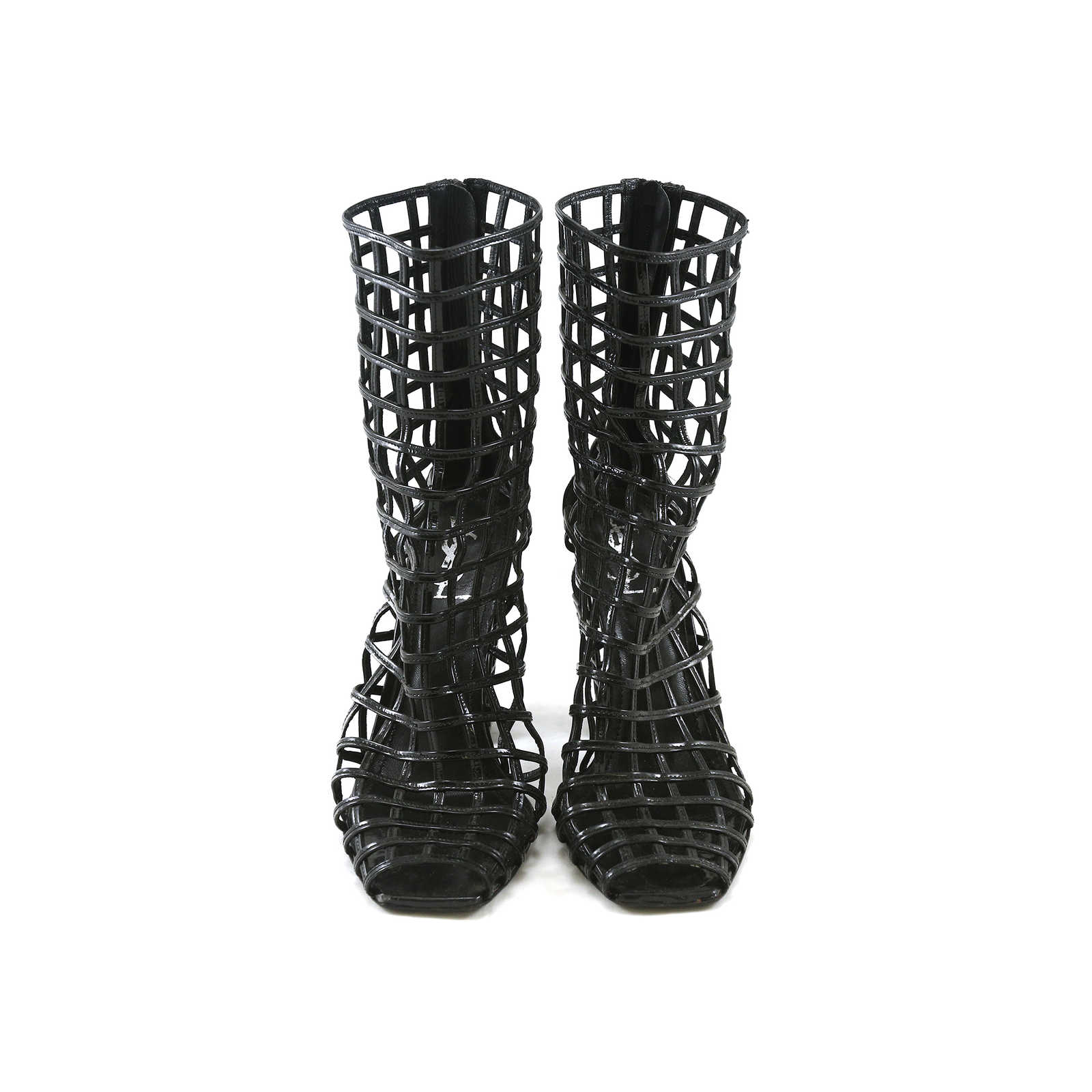 fa989392403 Authentic Second Hand Yves Saint Laurent Cage Boots (PSS-028-00007) ...