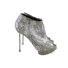 Paco rabanne metallic snakeskin booties 2
