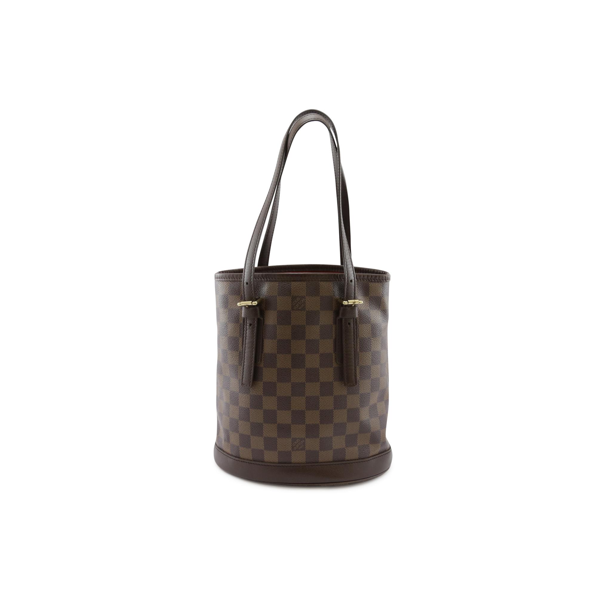 de6198cbcac0 Authentic Second Hand Louis Vuitton Marais Damier Ebene Petit Bucket  (PSS-004-00065)