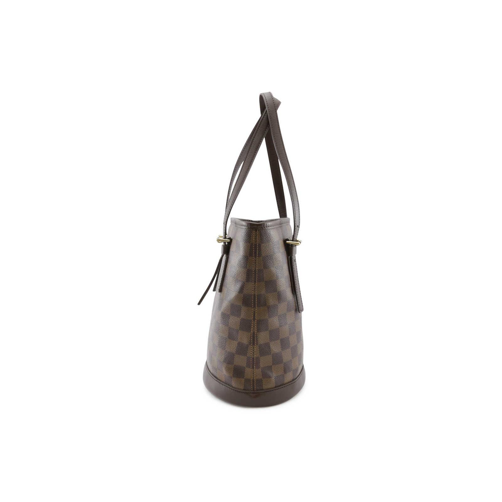 5ee203ec20f5 ... Authentic Second Hand Louis Vuitton Marais Damier Ebene Petit Bucket  (PSS-004-00065 ...
