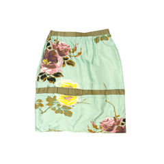 Marni embroidered floral silk skirt 2