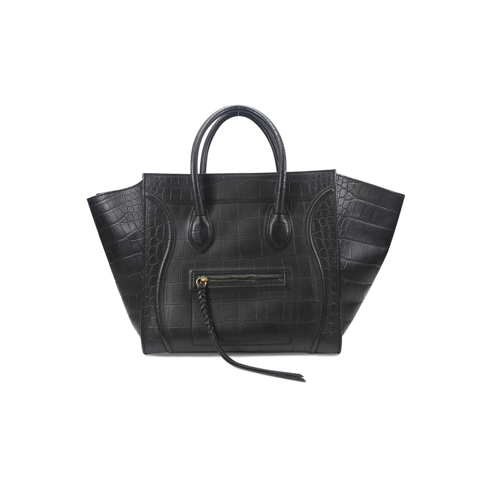 eaf791f8ff Authentic Second Hand Céline Croc Embossed Phantom Bag (PSS-020-00014) ...