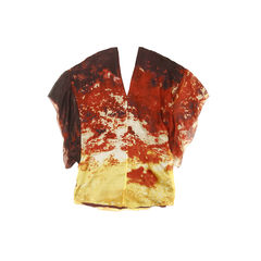 Catherine malandrino printed silk blouse 2