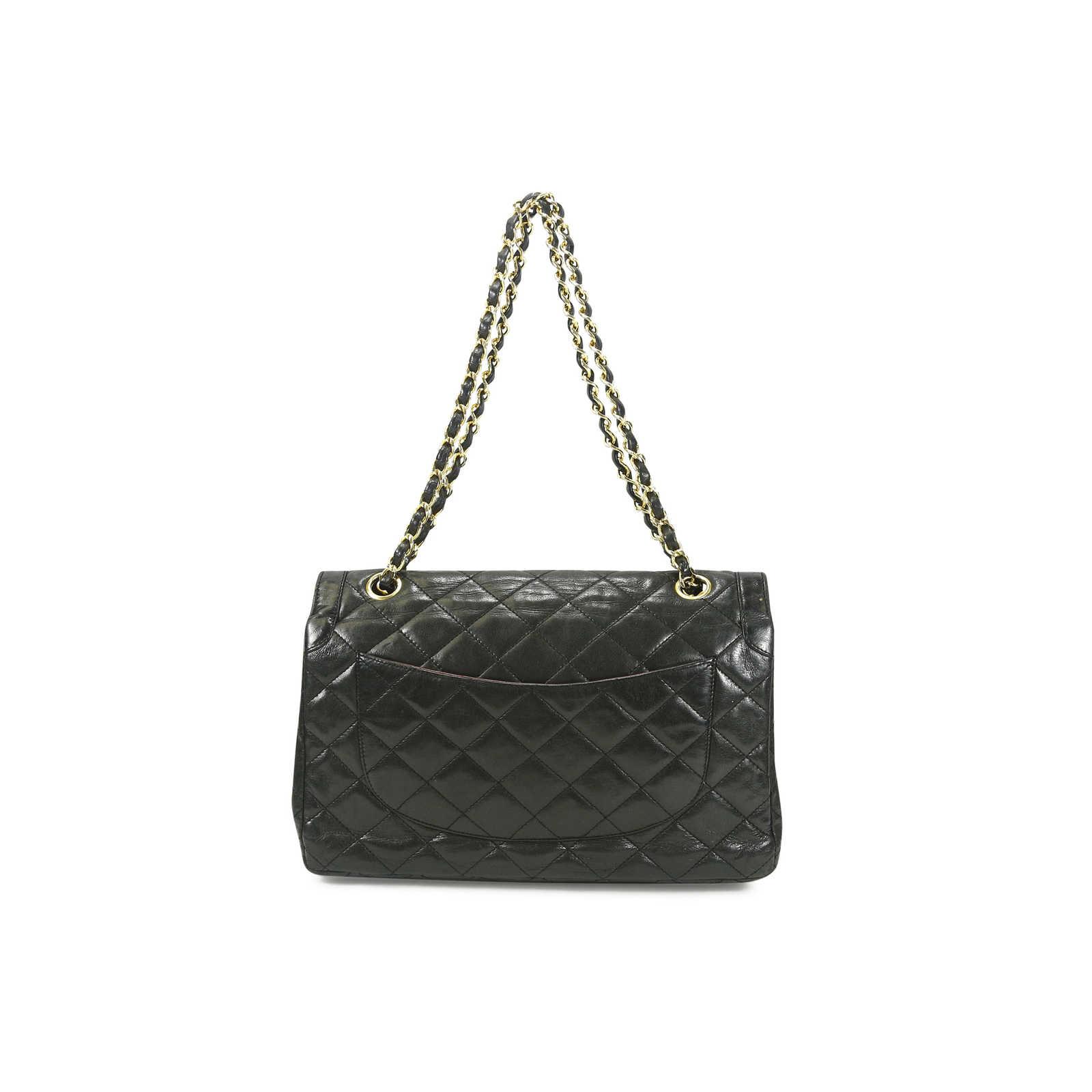 Chanel Väskor Vintage : Second hand chanel vintage classic flap style bag the