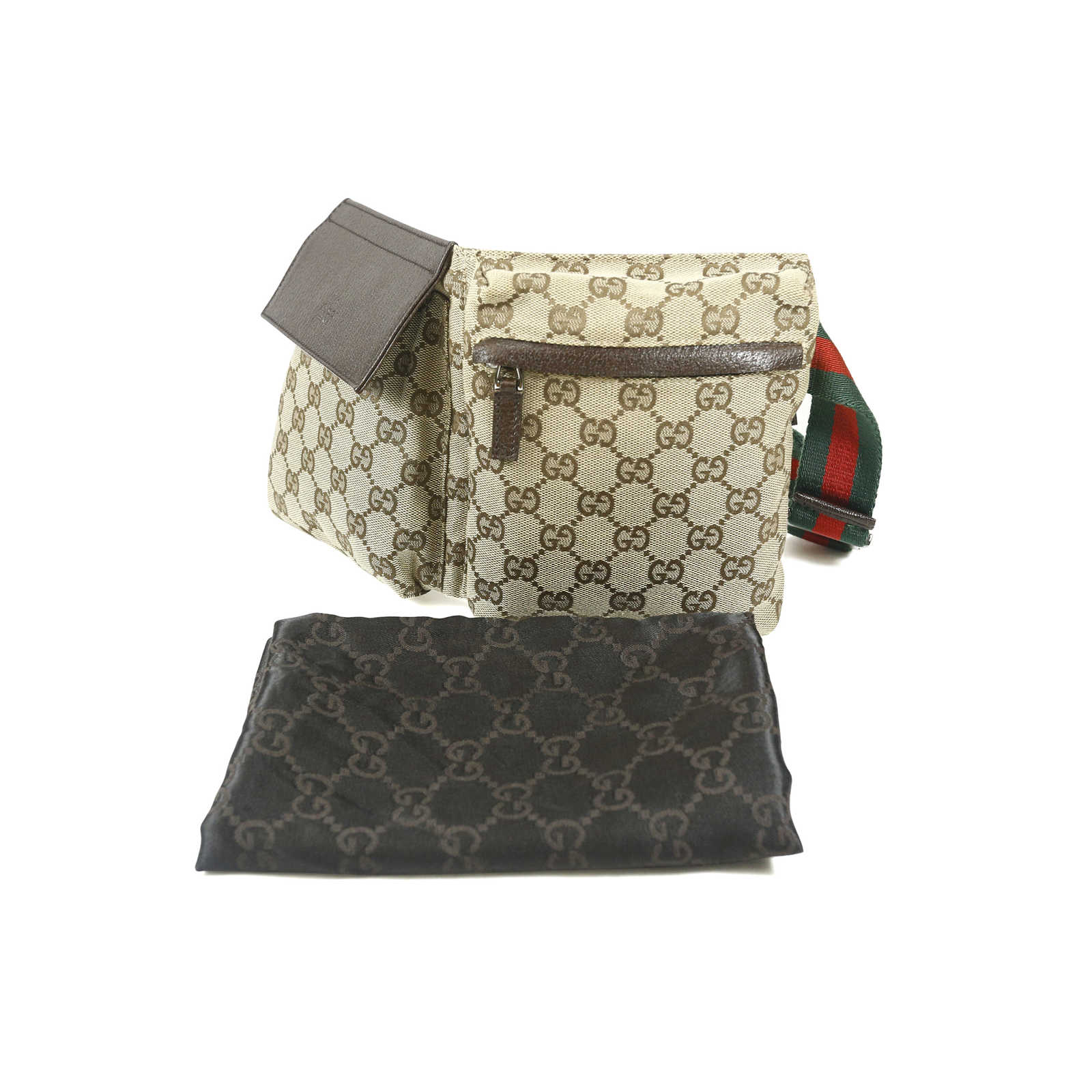 8257f25012e32e ... Authentic Second Hand Gucci Monogram Belt Bag (PSS-004-00072) -  Thumbnail