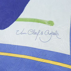 Van cleef and arpels silk scarf with illustration 2