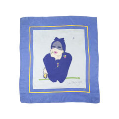 Silk Scarf with Illustration