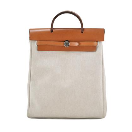 Authentic Vintage Hermès Toile Herbag Backpack (PSS-034-00005)