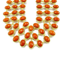 Amrita singh reversible bib necklace 2