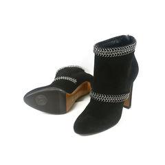 Azzedine alaia chain chamois boots 2