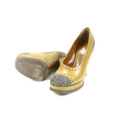 Yves saint laurent tweed platform shoes 2