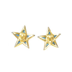 Maison goossens silver star earrings 2
