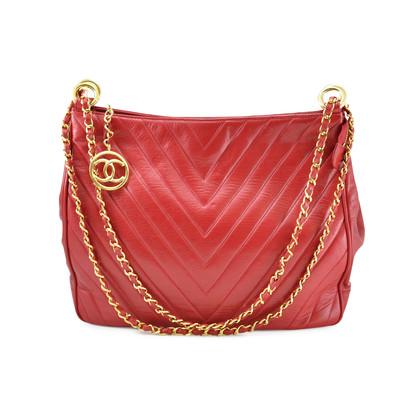 Authentic Vintage Chanel Chevron Shoulder Bag (TFC-107-00007)