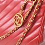 Authentic Vintage Chanel Chevron Shoulder Bag (TFC-107-00007) - Thumbnail 3