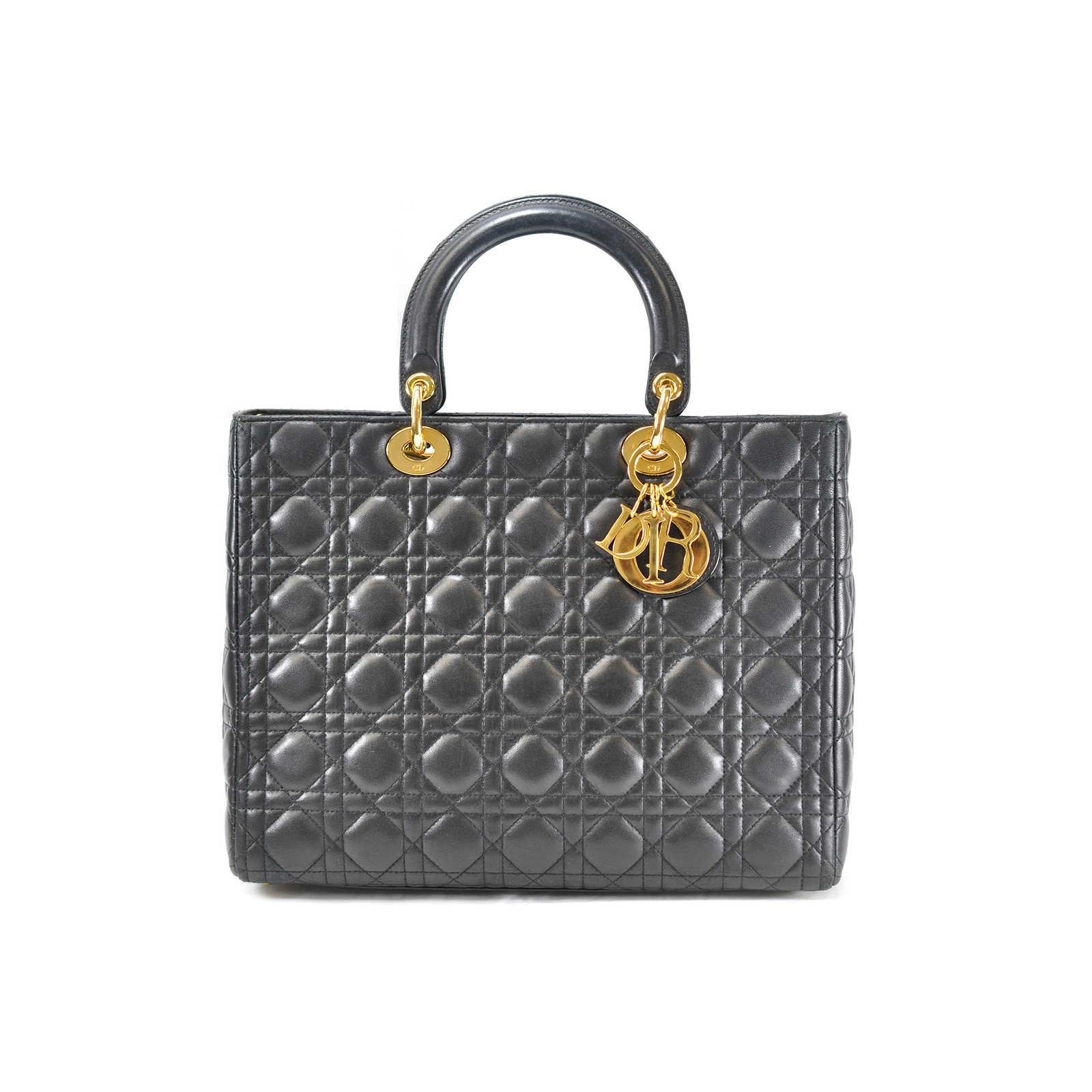 4c6b268aecf Authentic Vintage Christian Dior Large Lady Dior Bag (TFC-107-00008) ...