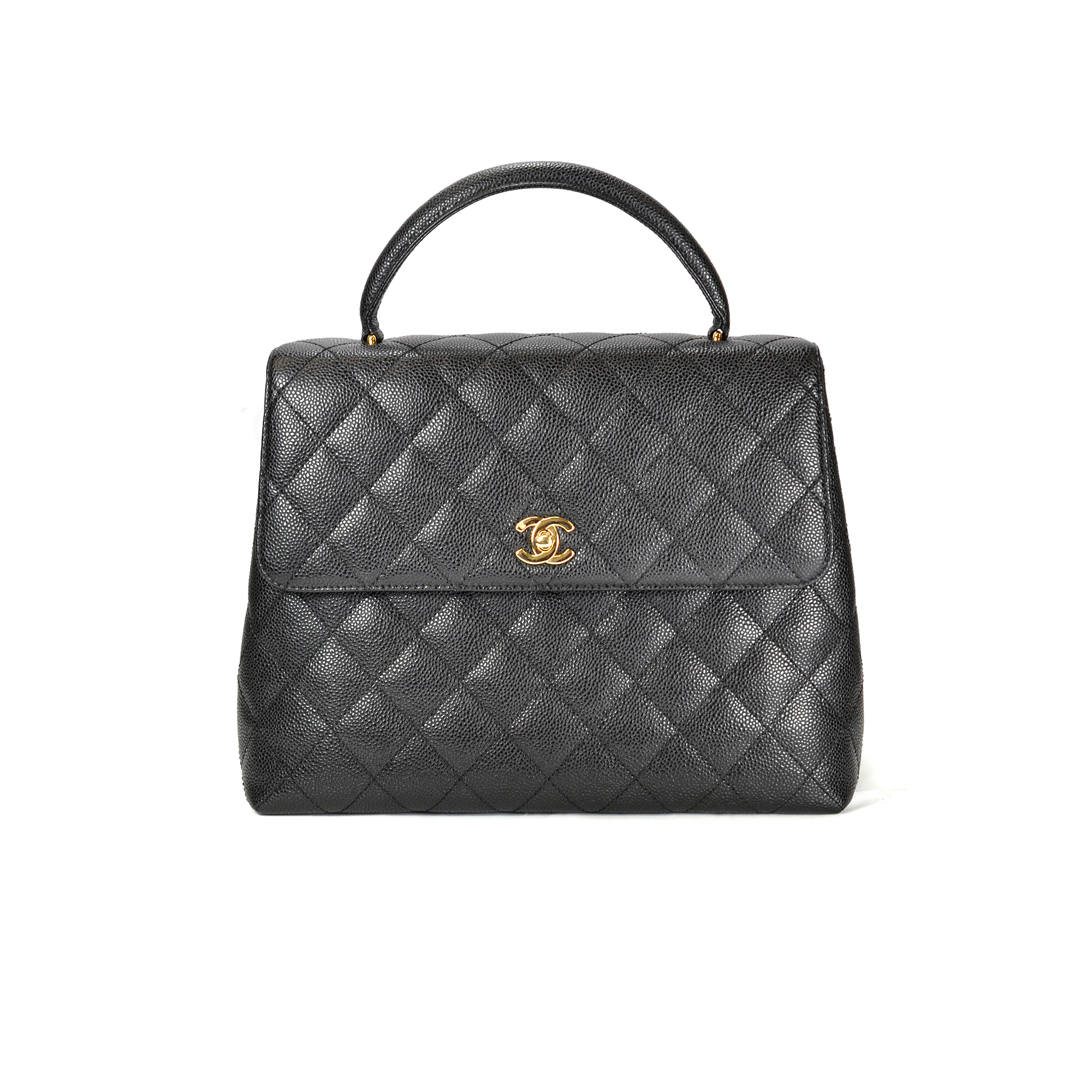 ee79d7ce4b27 Authentic Second Hand Chanel Kelly Quilted Caviar Bag (TFC-107-00016 ...