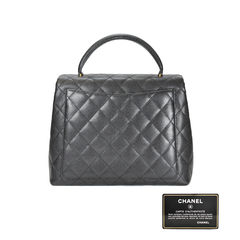 Chanel kelly quilted caviar bag 2