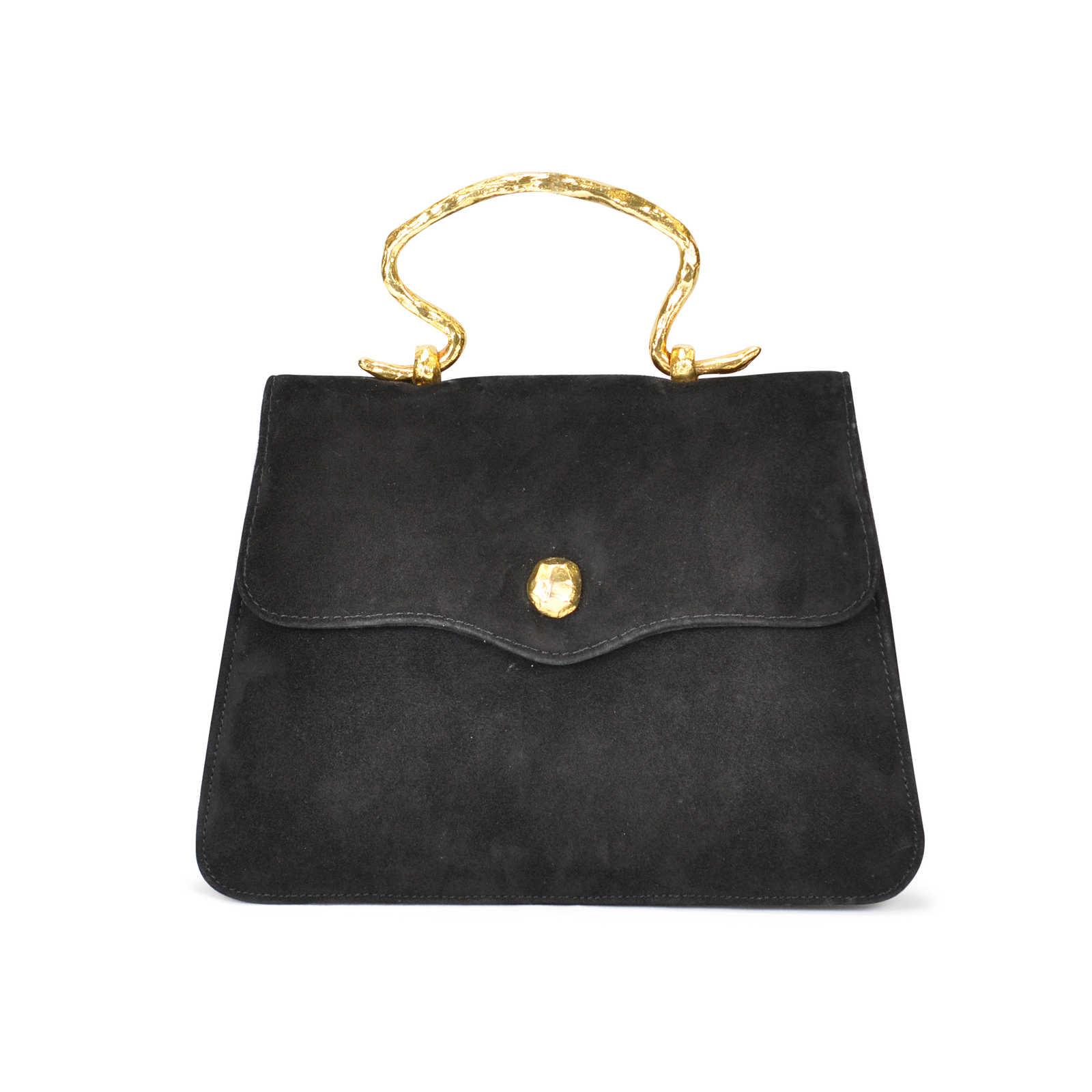 209e497bd1 Authentic Vintage Sonia Rykiel Suede Slim Evening Bag (PSS-047-00004) ...