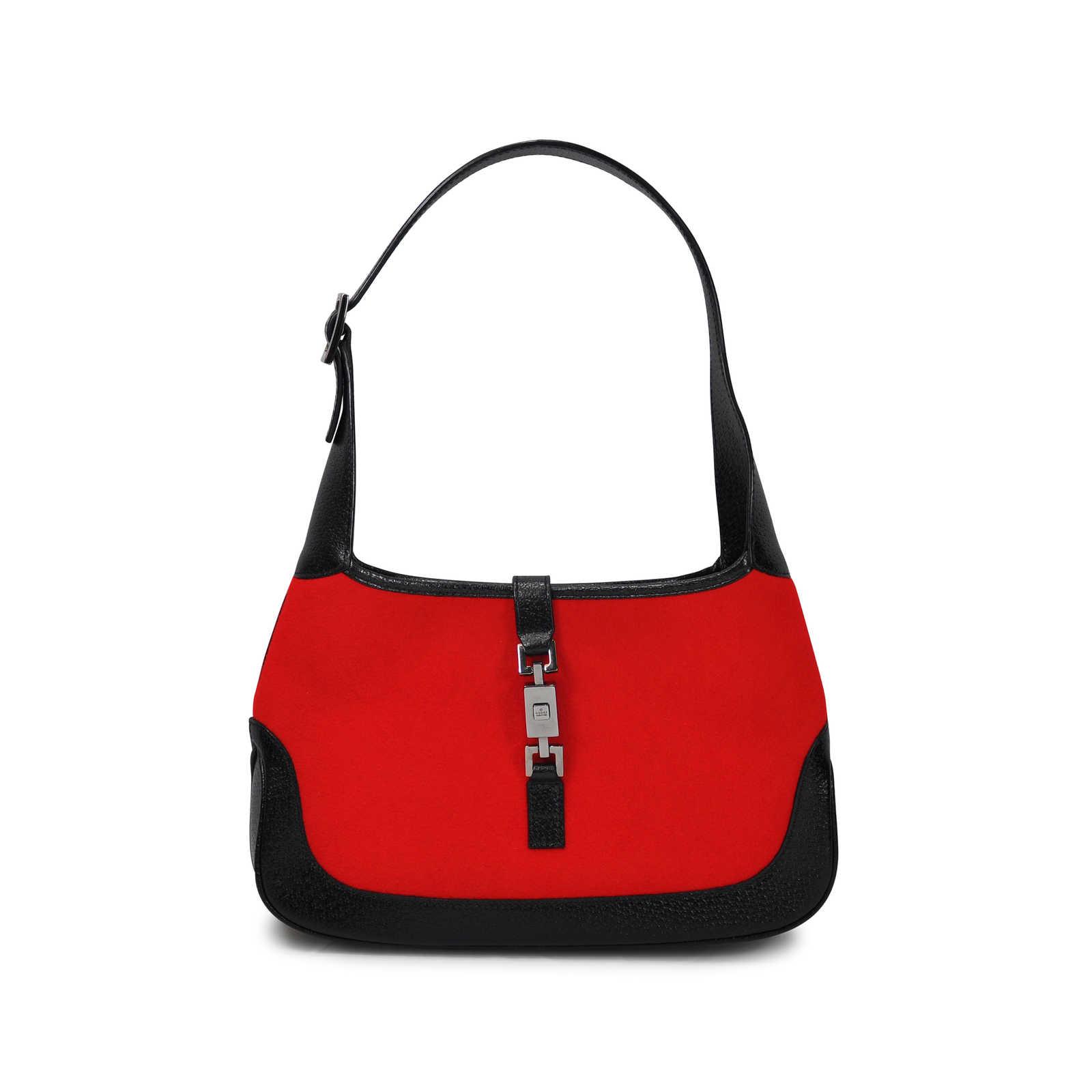 aa998a570345e Authentic Vintage Gucci Felt Jackie O Bag (PSS-047-00025) - THE ...