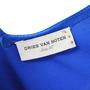 Authentic Second Hand Dries Van Noten Blue Silk Dress (PSS-043-00002) - Thumbnail 3