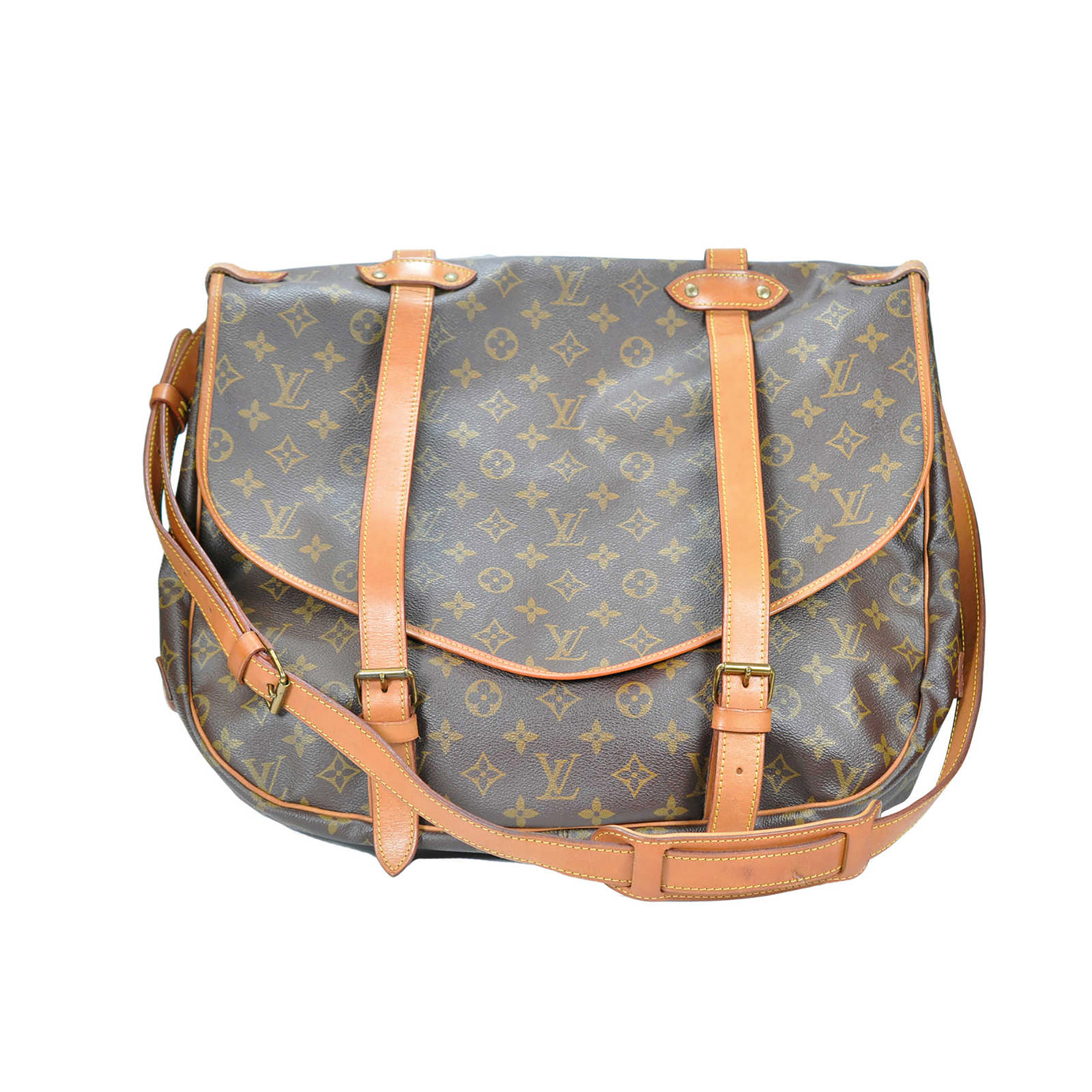 cf9601cdb9b5 Authentic Second Hand Louis Vuitton Saumur 43 Messenger Bag (PSS-023-00048)