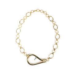 Loop Necklace with Chains