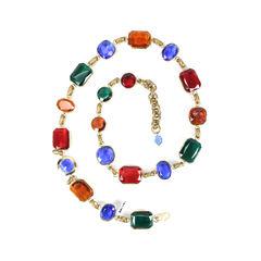 Multi Colour Gem Belt