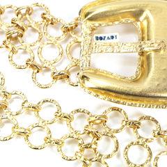 Bozart large buckle gilt metal belt 2