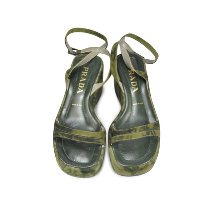 Authentic Second Hand Prada Tie Dye Wedges (PSS-047-00050)