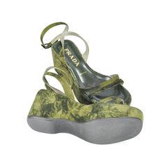 Prada green military wedges 2