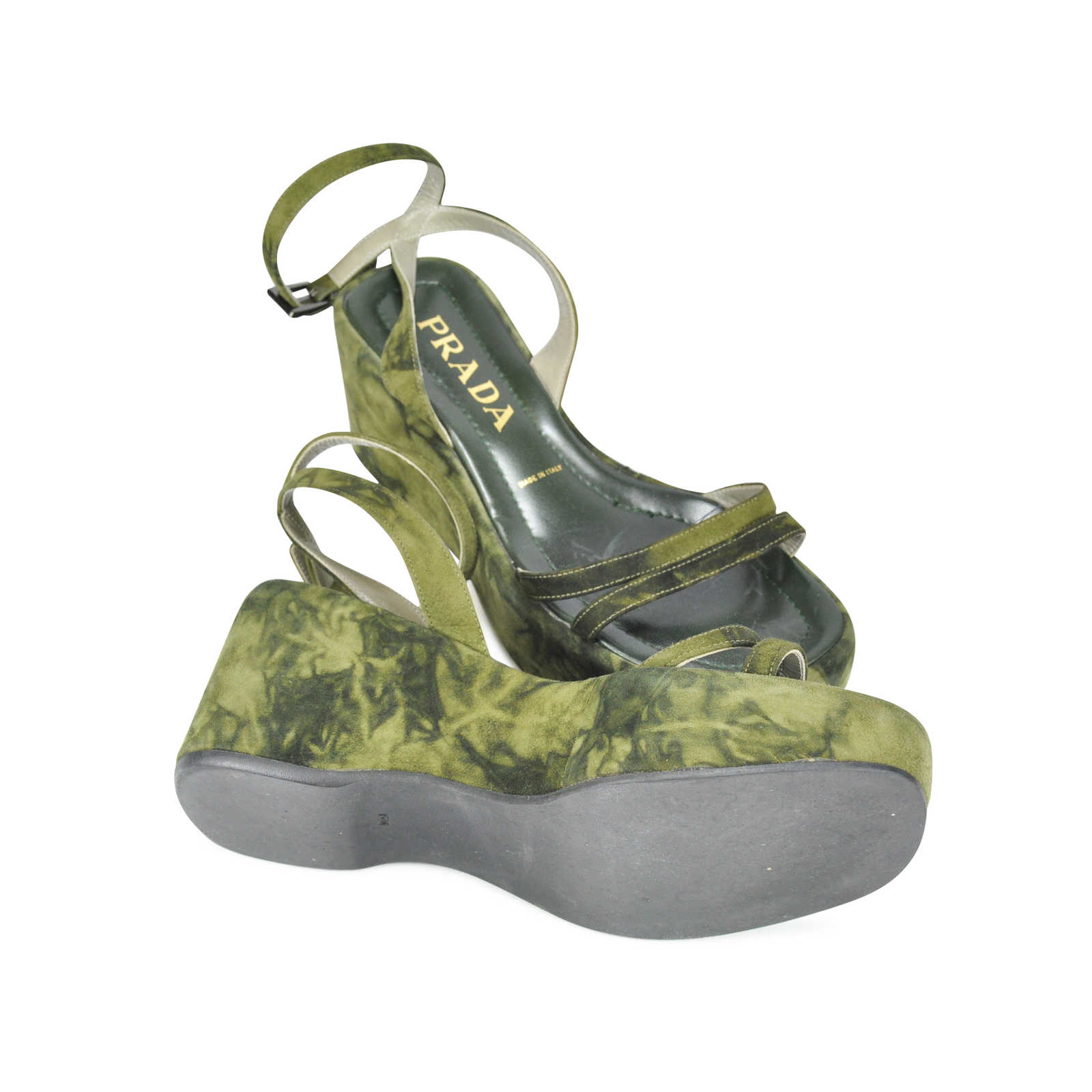 68aa038b8674 ... Authentic Second Hand Prada Tie Dye Wedges (PSS-047-00050) - Thumbnail  ...