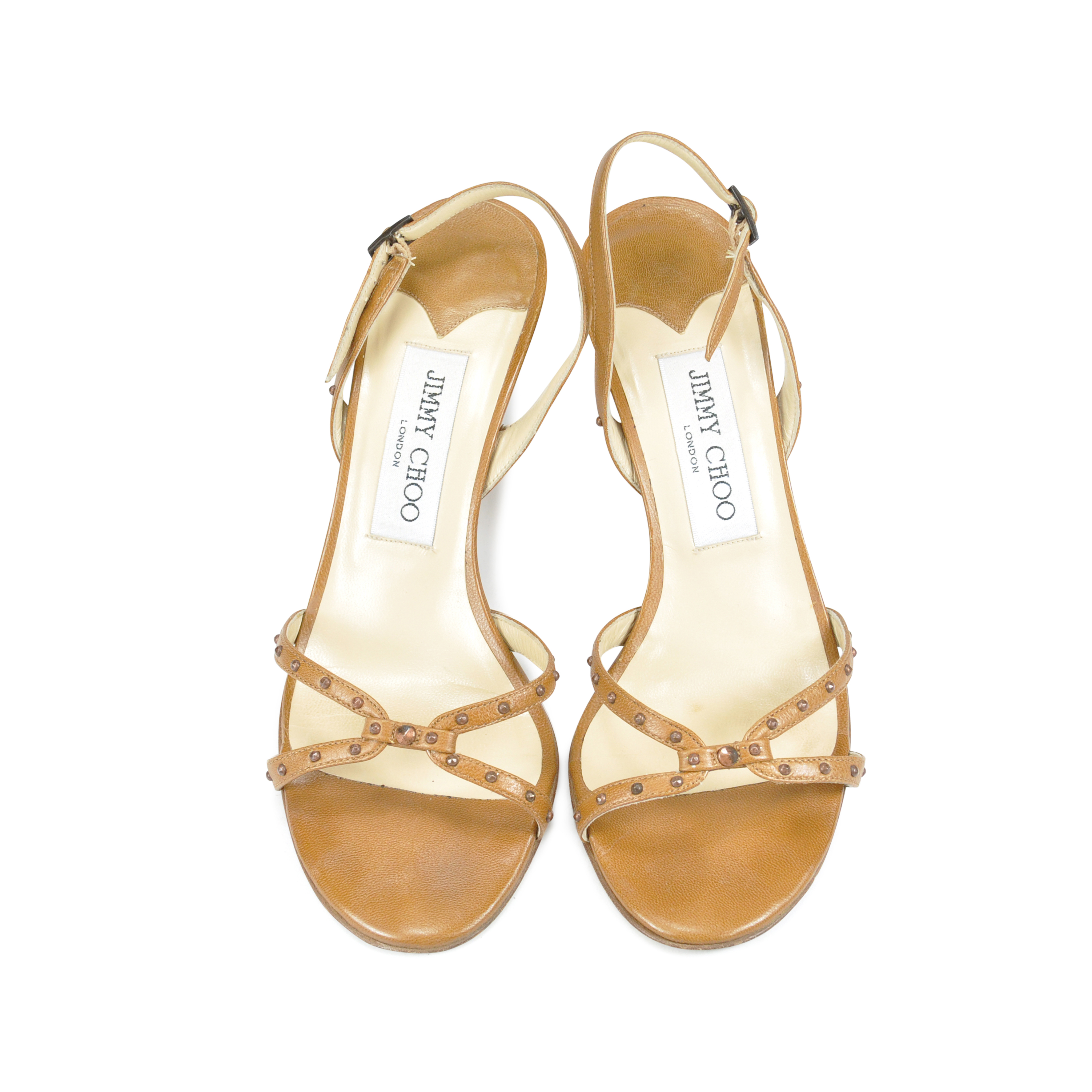 7219acfc31f Authentic Second Hand Jimmy Choo Strappy Studded Sandals (PSS-047-00048)