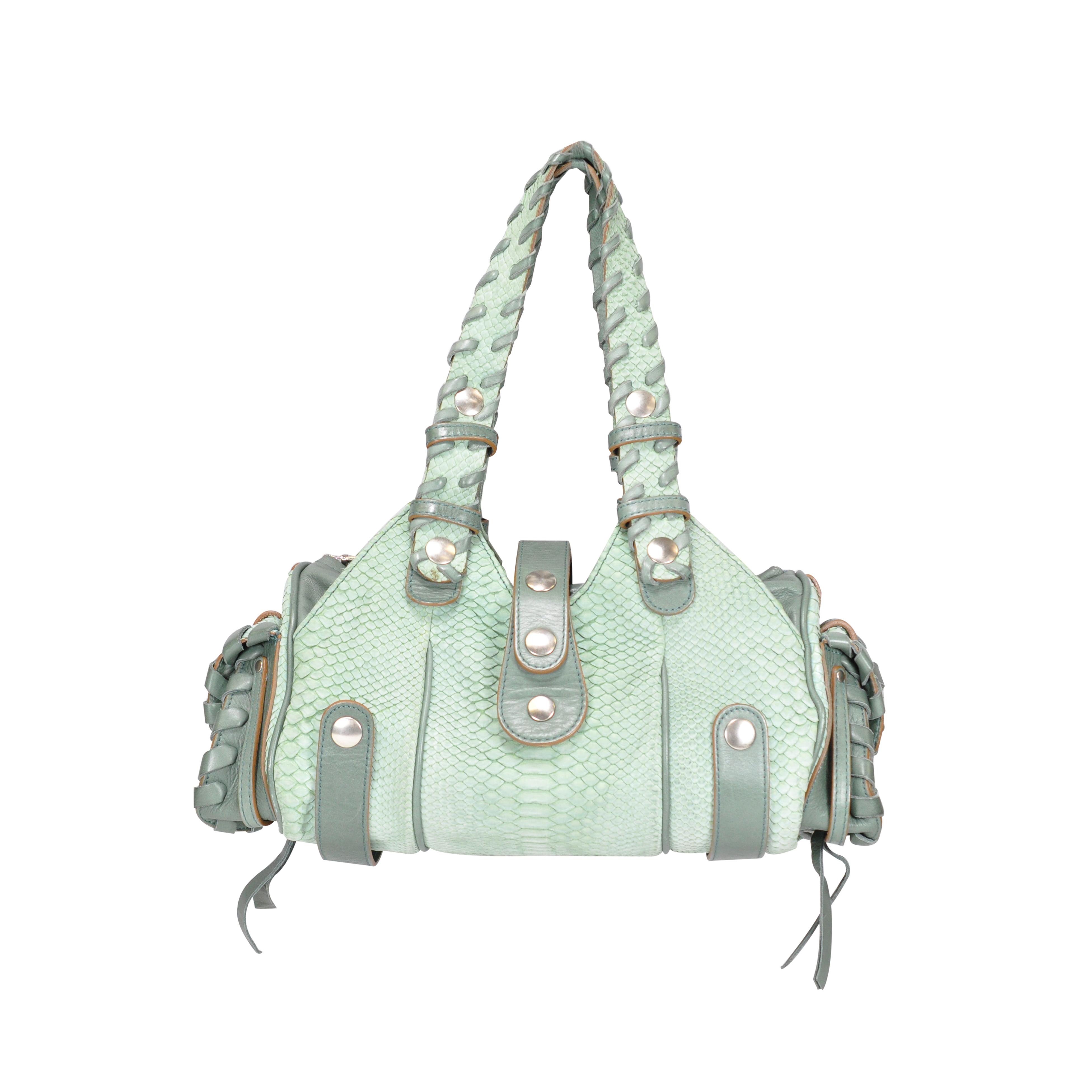 Authentic Pre Owned Chloé Silverado Python Bag (PSS-047-00172)  3a4c4555c81b