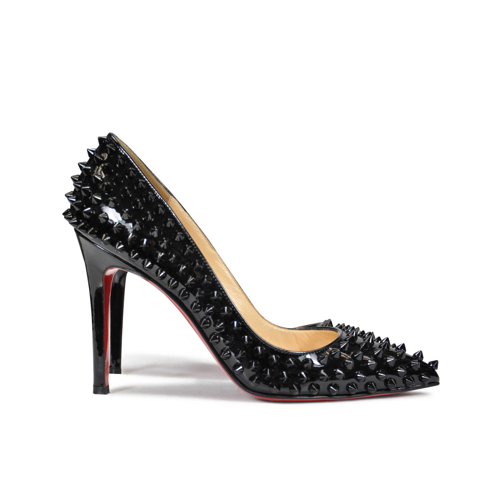 6a25a9a3ea49a ... Authentic Second Hand Christian Louboutin Pigalle Spike Pumps  (PSS-062-00003) -