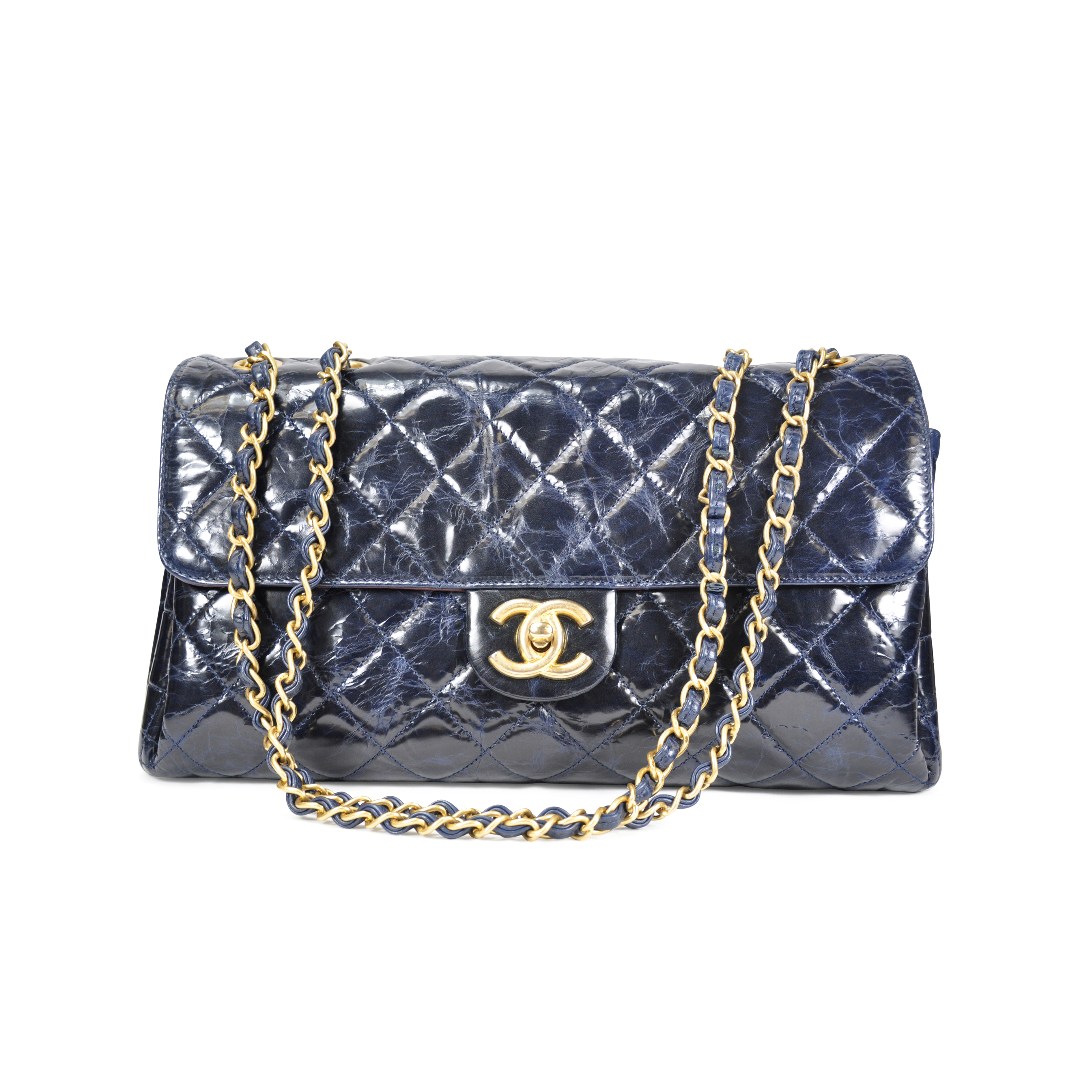 b625cdfb7aaf Authentic Second Hand Chanel Glazed Calfskin Classic Flap Style Bag  (PSS-062-00008) | THE FIFTH COLLECTION