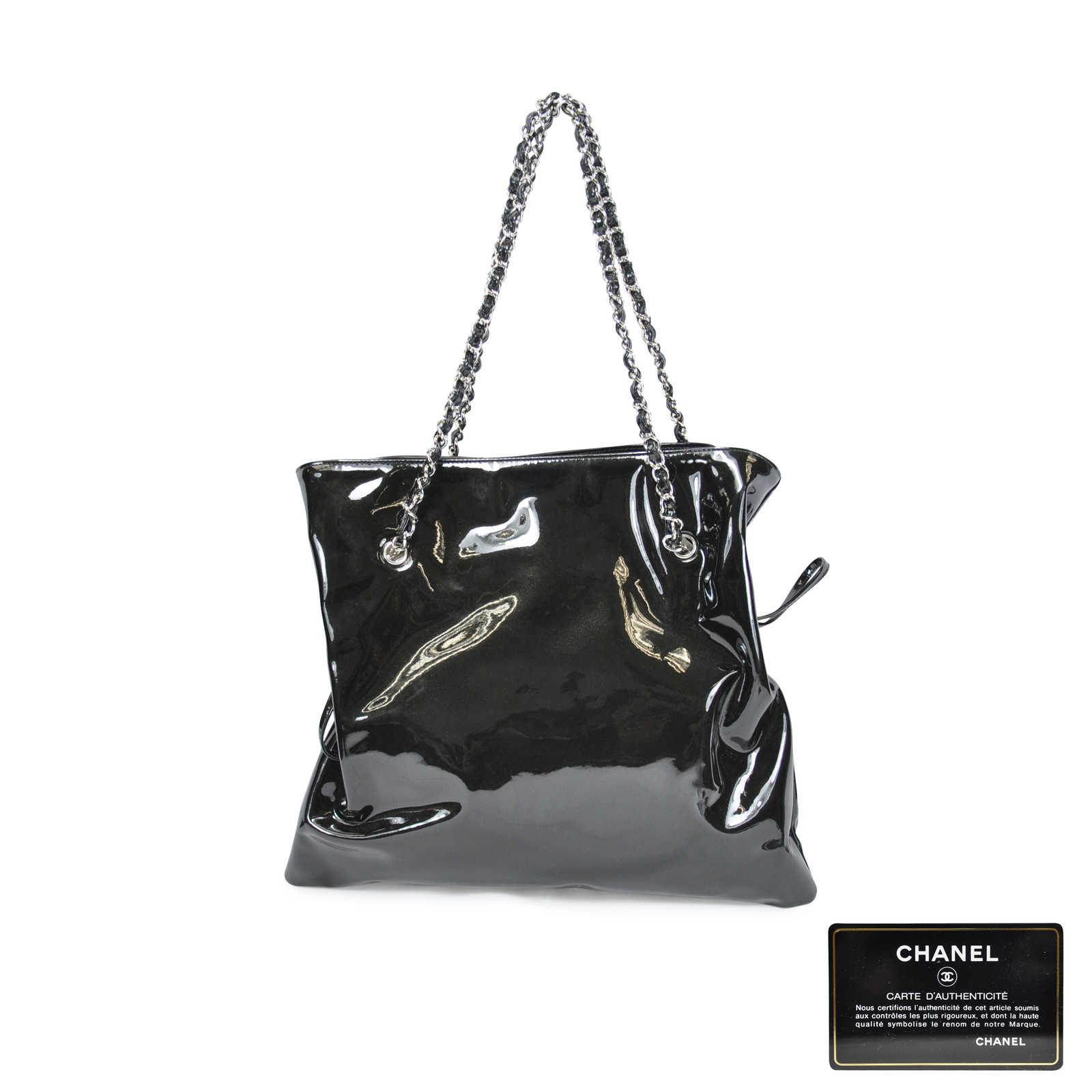 8b06bbd910f7 ... Authentic Second Hand Chanel Patent Lambskin Bon Bon Tote Bag  (PSS-062-00007 ...
