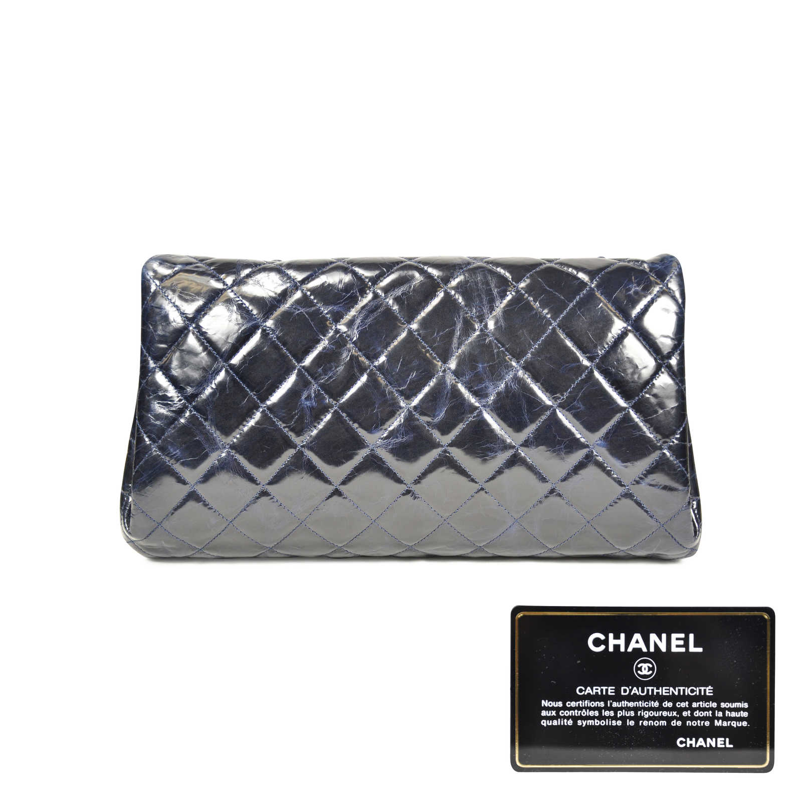 0590c9948867 ... Authentic Second Hand Chanel Glazed Calfskin Classic Flap Style Bag  (PSS-062-00008 ...