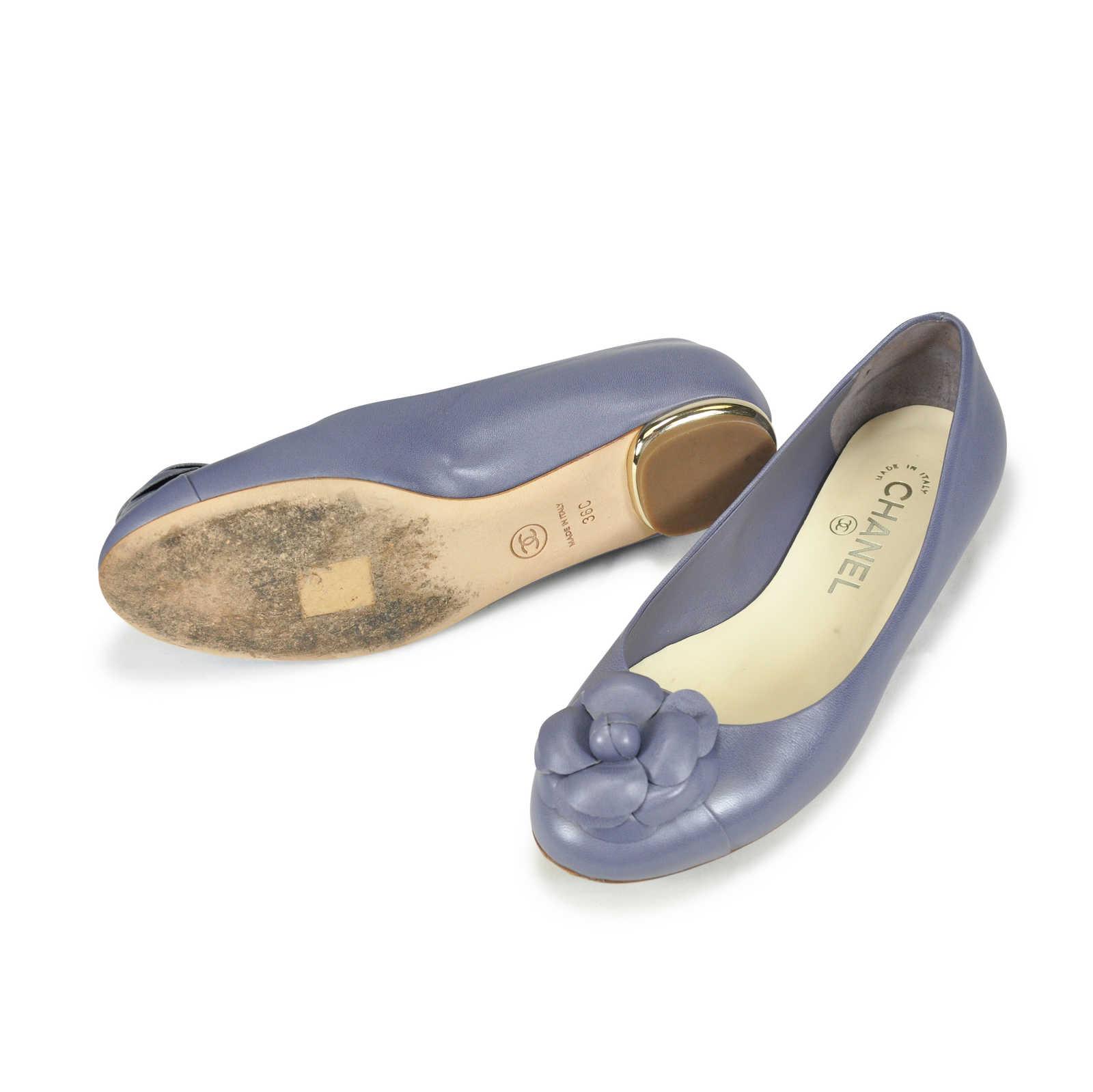 7c68799d5c0 ... Authentic Second Hand Chanel Camellia Ballerina Flats (PSS-062-00004) -  Thumbnail ...