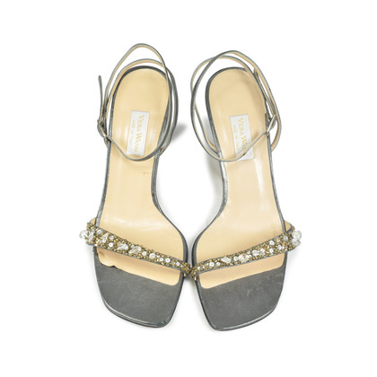 Authentic Second Hand Vera Wang Beaded Sandals (PSS-047-00041)