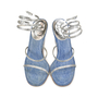 Authentic Second Hand René Caovilla Denim and Rhinestone Sandals (PSS-047-00043) - Thumbnail 0