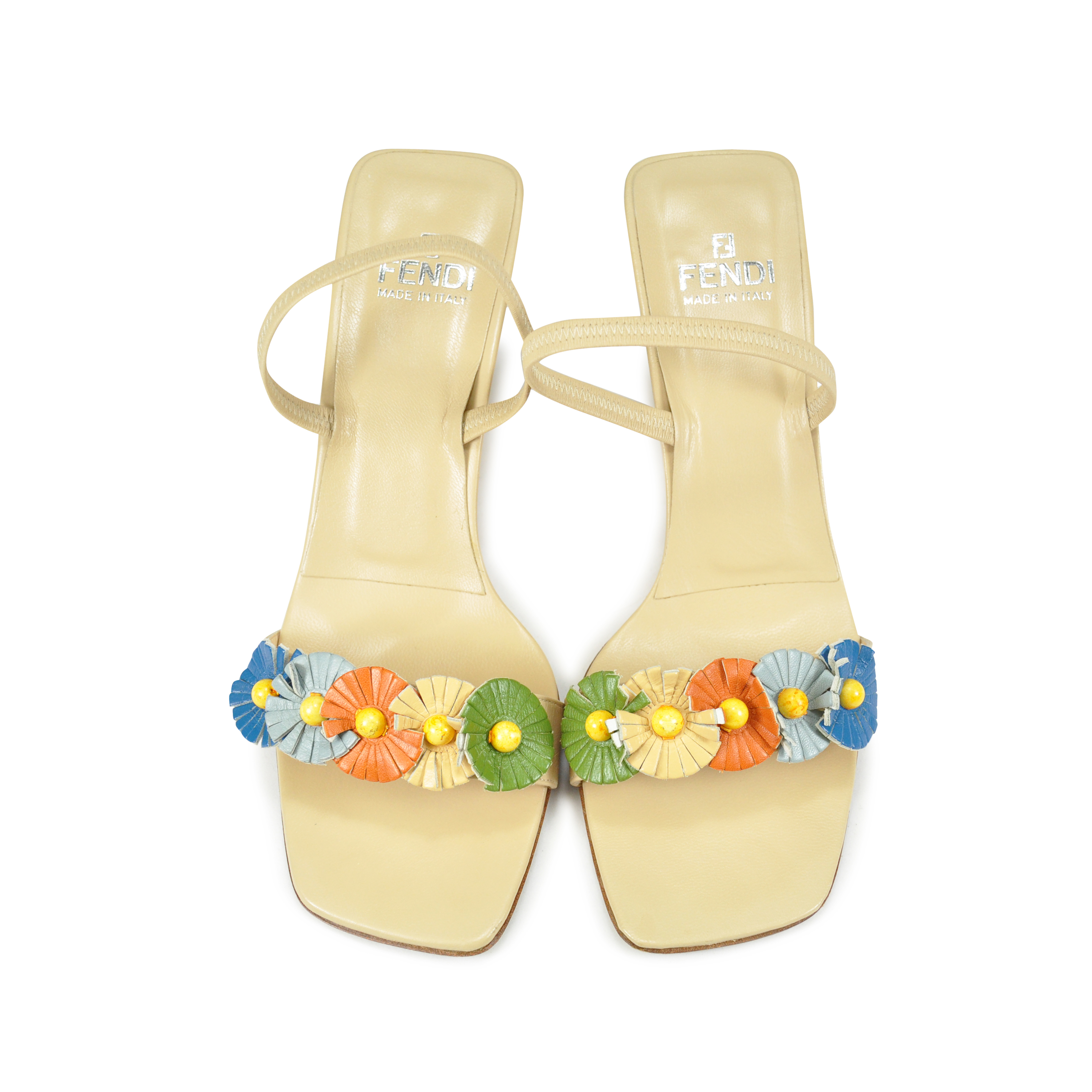a210f907ccee Authentic Second Hand Fendi Floral Kitten Heels (PSS-047-00038 ...