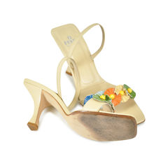 Fendi kitten heel with elastic band 2