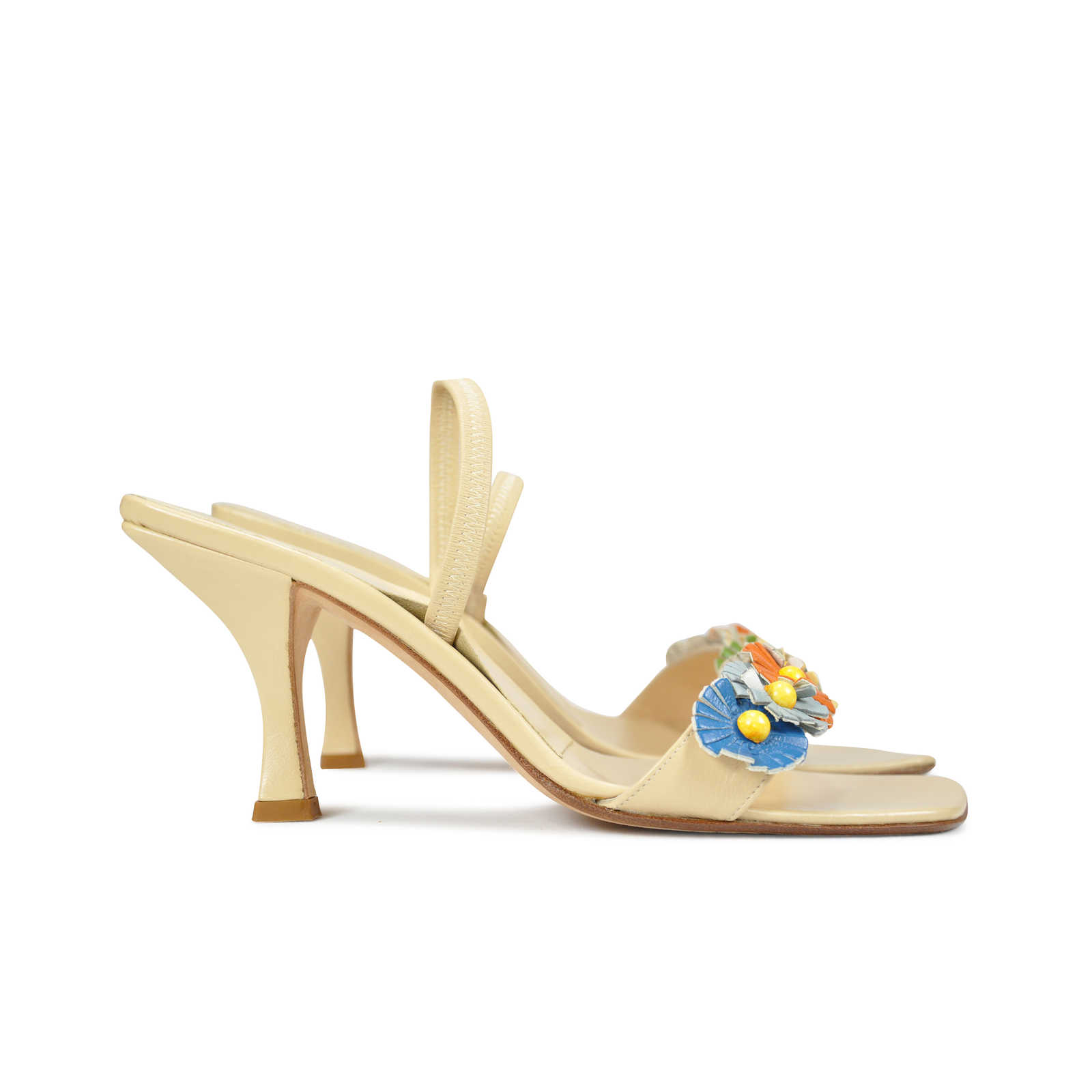 452ea0fd197b ... Authentic Second Hand Fendi Floral Kitten Heels (PSS-047-00038) -  Thumbnail