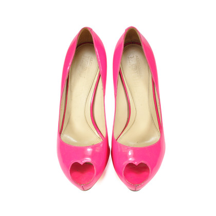 Alexander Mcqueen Heart Peep Toe Pumps