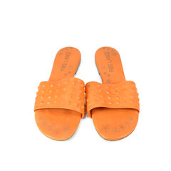 Covered Studded Slippers
