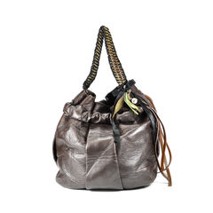 Hobo Leather Bag With Charm