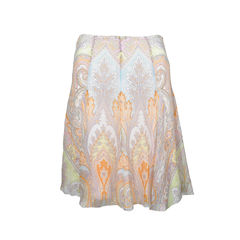 Pastel Paisley Print Skirt