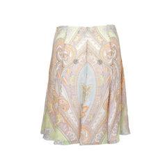 Anne klein pastel paisley print skirt 2