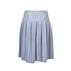 Marc by marc jacobs pale blue linen skirt with pleats 2